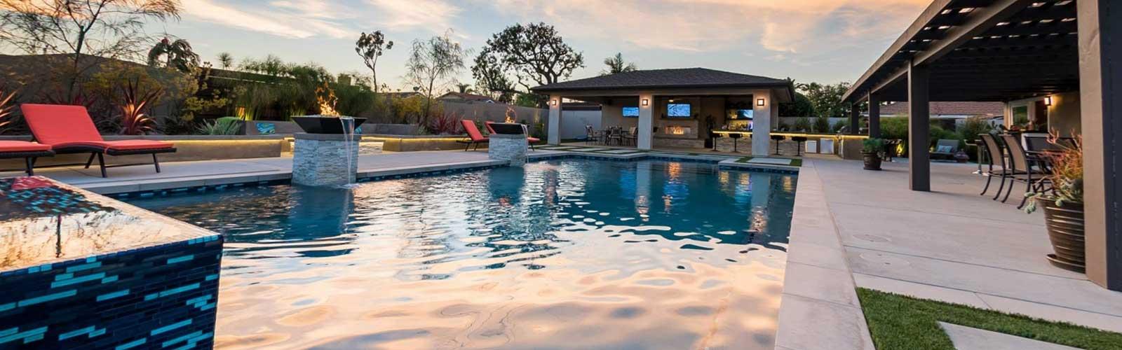 Swimming pool landscape design orange county ca for Pool design orange county ca